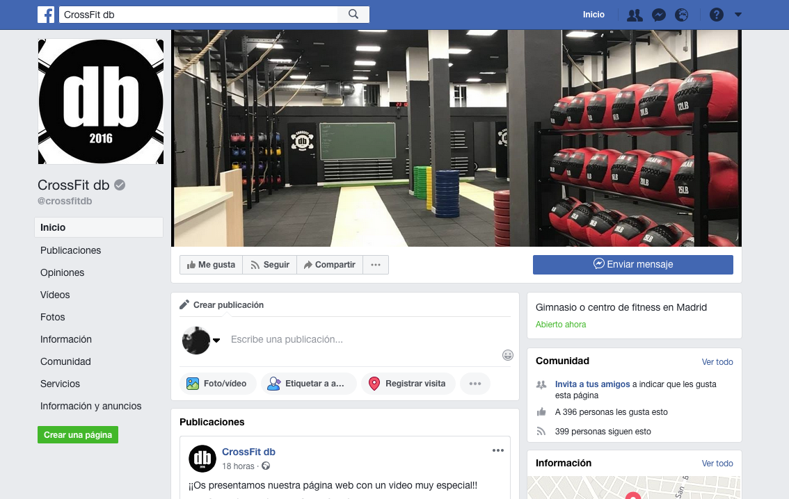 Facebook CrossFit db Madrid