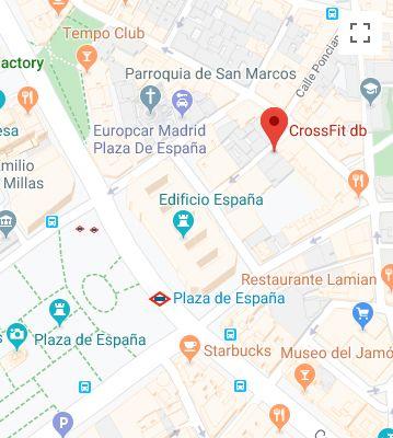 CrossFit db Madrid Mapa
