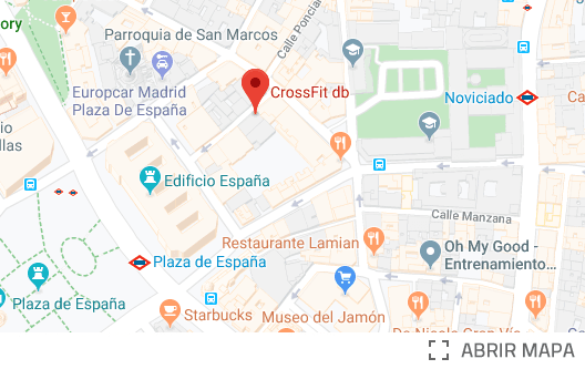 Mapa CrossFit db Madrid